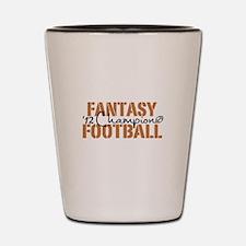 2012 Fantasy Football Champ Shot Glass