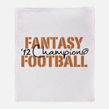 2012 Fantasy Football Champ Throw Blanket