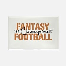 2012 Fantasy Football Champ Rectangle Magnet