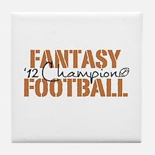 2012 Fantasy Football Champ Tile Coaster