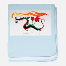 Fiery Dragon baby blanket