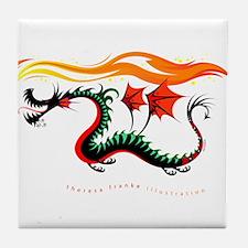 Fiery Dragon Tile Coaster