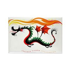 Fiery Dragon Rectangle Magnet