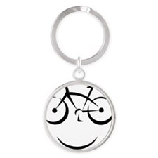 Bike Smile Round Keychain