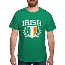 IRISH Crest - Distressed Design T-Shirt
