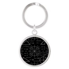 Trig and Triangles Round Keychain