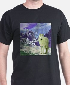 white wolf art illustration T-Shirt