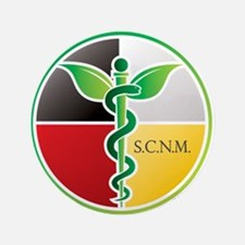 "SCNM Medicine Wheel Logo 3.5"" Button"