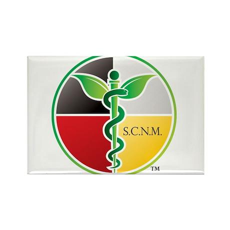 SCNM Medicine Wheel Logo Rectangle Magnet