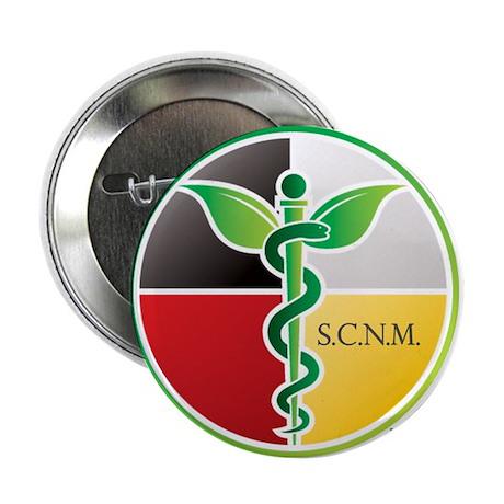 "SCNM Medicine Wheel Logo 2.25"" Button"