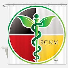 SCNM Medicine Wheel Logo Shower Curtain