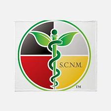 SCNM Medicine Wheel Logo Throw Blanket