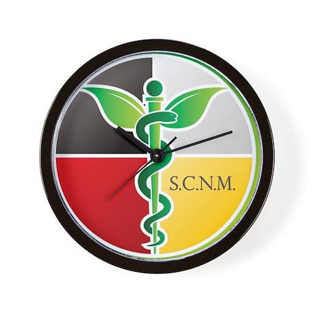 SCNM Medicine Wheel Logo Wall Clock
