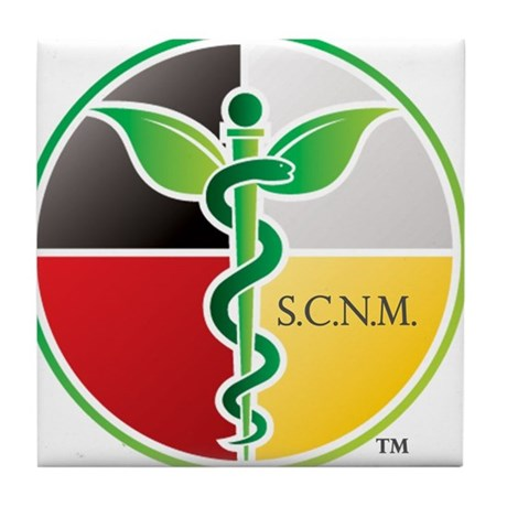 SCNM Medicine Wheel Logo Tile Coaster