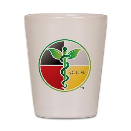 SCNM Medicine Wheel Logo Shot Glass