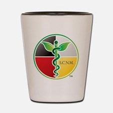 SCNM Medicine Wheel Logo Shot Glass