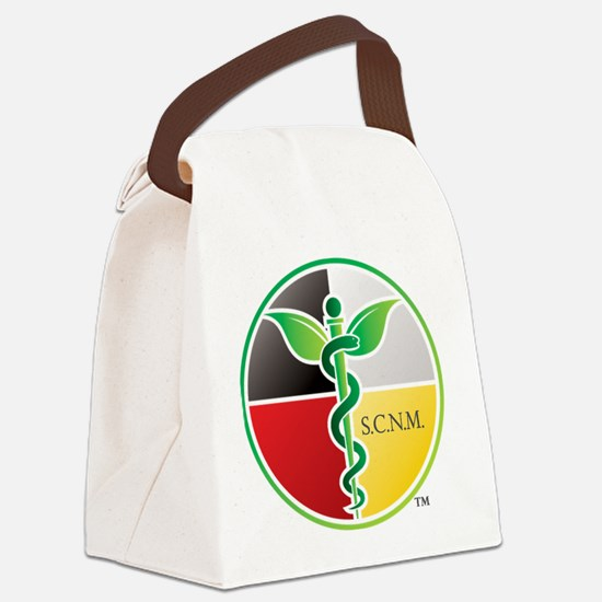 SCNM Medicine Wheel Logo Canvas Lunch Bag