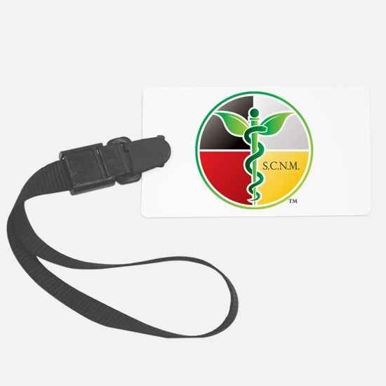 SCNM Medicine Wheel Logo Luggage Tag