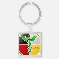 SCNM Medicine Wheel Logo Square Keychain