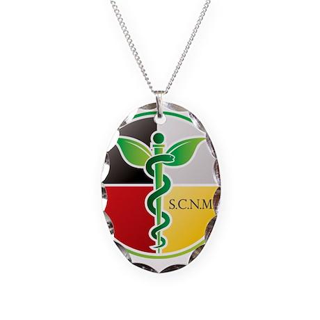 SCNM Medicine Wheel Logo Necklace Oval Charm