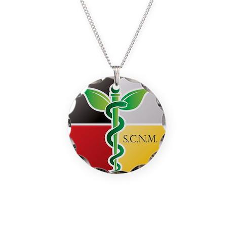 SCNM Medicine Wheel Logo Necklace Circle Charm