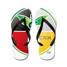 SCNM Medicine Wheel Logo Flip Flops