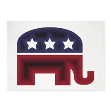 Republican Elephant (C) 5'x7'Area Rug