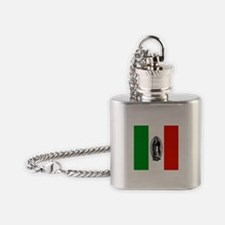 Lady of Guadalupe - Mexican F Flask Necklace