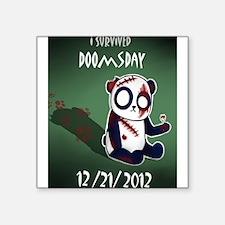 "Zombie Panda Square Sticker 3"" x 3"""