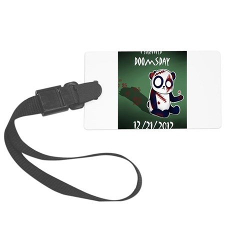 Zombie Panda Large Luggage Tag