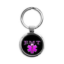 EMT(pink) Round Keychain