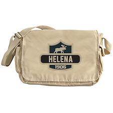 Helena Blue Nature Crest Messenger Bag