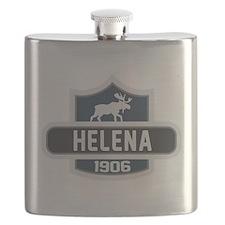 Helena Blue Nature Crest Flask