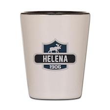 Helena Blue Nature Crest Shot Glass