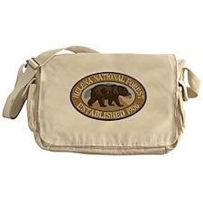 Helena Brown Bear Badge Messenger Bag
