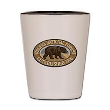 Helena Brown Bear Badge Shot Glass