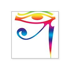 "Eye of Horus - Rainbow Square Sticker 3"" x 3"""