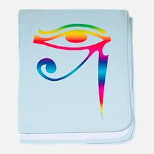 Eye of Horus - Rainbow baby blanket