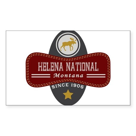 Helena Natural Marquis Sticker (Rectangle)