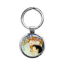 Klimt - 3 Ages Round Keychain