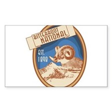Bitterroot Blue Bighorn Badge Decal