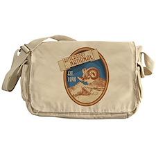 Bitterroot Blue Bighorn Badge Messenger Bag