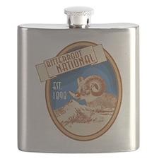 Bitterroot Blue Bighorn Badge Flask