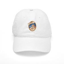 Bitterroot Blue Bighorn Badge Baseball Cap