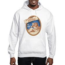 Bitterroot Blue Bighorn Badge Hoodie Sweatshirt