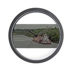 Wall Clock With Towboat And Barge On Texas Canal