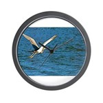 Wall Clock With Large Bird In Flight