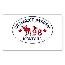 Bitterroot Moose Badge Decal
