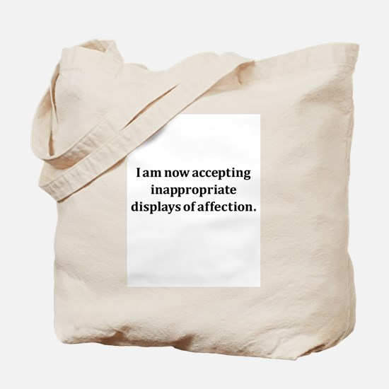 Inappropriate Display Of Affection Tote Bag