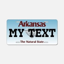 Personalized Arkansas diamond license plate
